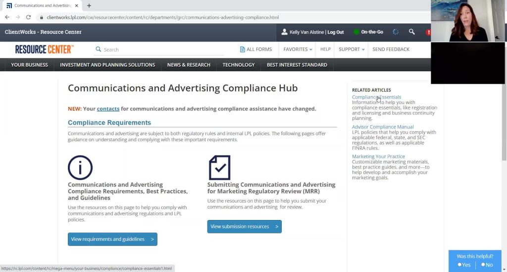 Best Practices for Communications and Advertising, Medicare supplements and advertising, New online training course for Non-Licensed Assistants in the Learning Center, Update on Directly Held 529 plans, Increase in Fraudulent ACH Requests – What to Look for